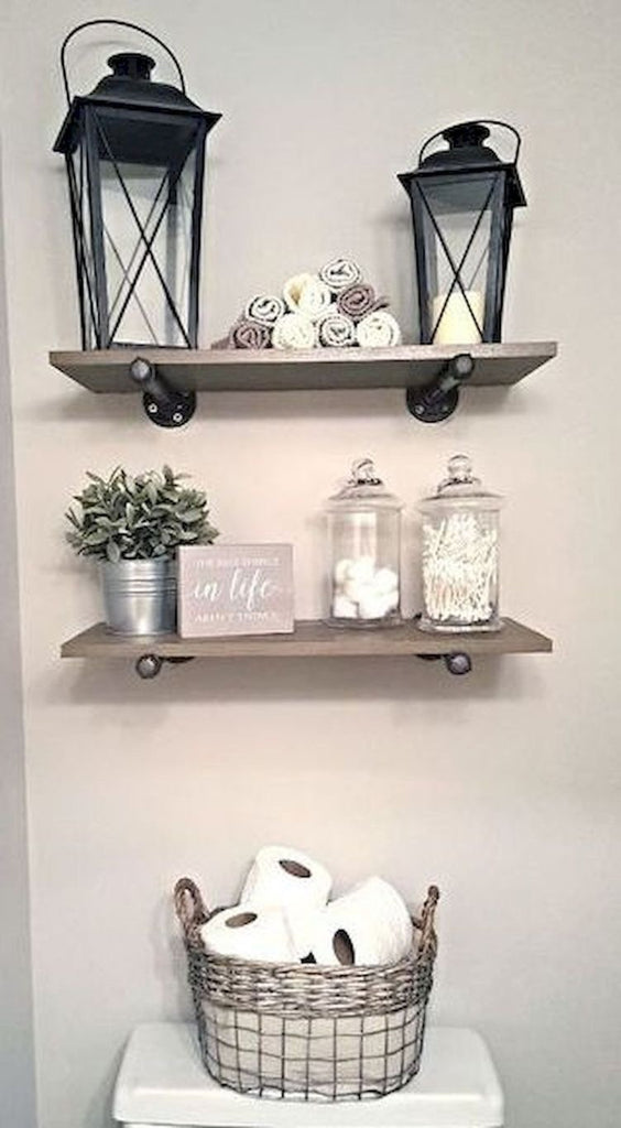Perfect Over the Table Farmhouse Open Wall Shelving