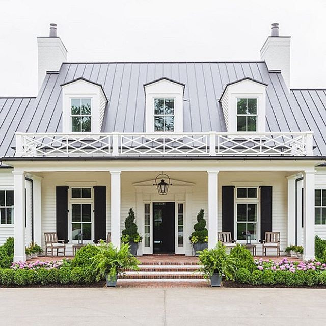 White Modern Farmhouse Exterior curb appeal