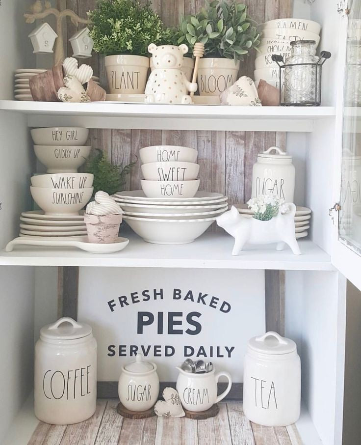 Cute Farmhouse Accents to Accompany Your Shelving Units