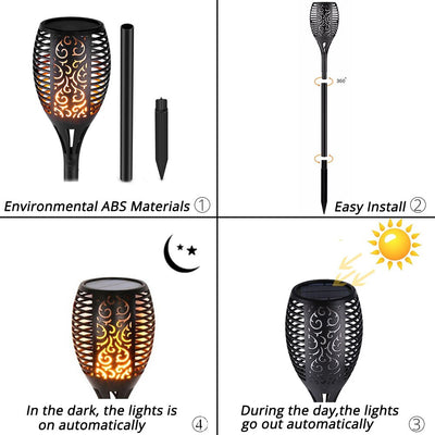2019 LED Solar Path Torch Light Dancing Flame - Living MNML