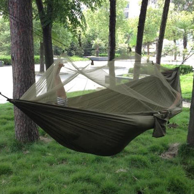 Ultralight Travel Hammock with Integrated Mosquito Net - Living MNML