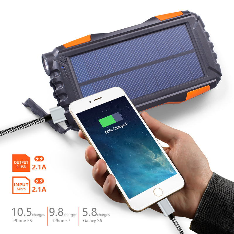 Outdoor Waterproof Solar Powerbank - Living MNML