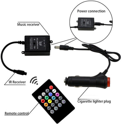MultiLED Strip Interior Lighting Kit (4) - Bluetooth Enabled Full Color - Living MNML