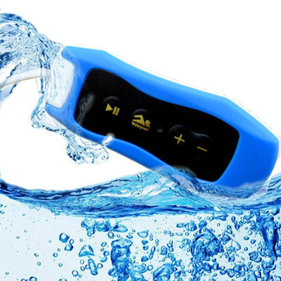 NICOT Water Resistant MP3 Music Player with IPX8 FM Radio for Swim Diving Sport Clip MP3 Players - Living MNML