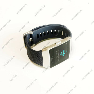 Fitbit Ionic GPS Smart Watch, Blue-Gray/Silver, One Size (S and L Bands Included)