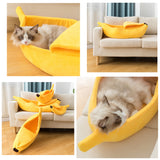 Banana Shaped Cozy Cat  Bed