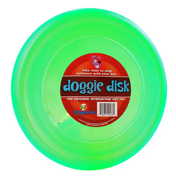 Green Doggy Disk Frisbee