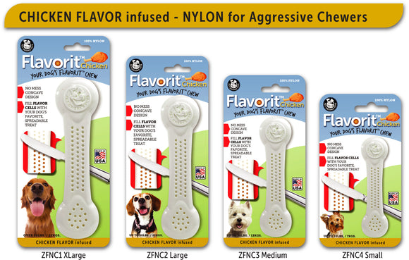 Pet Qwerks Flavorit - Nylon Chicken Bone