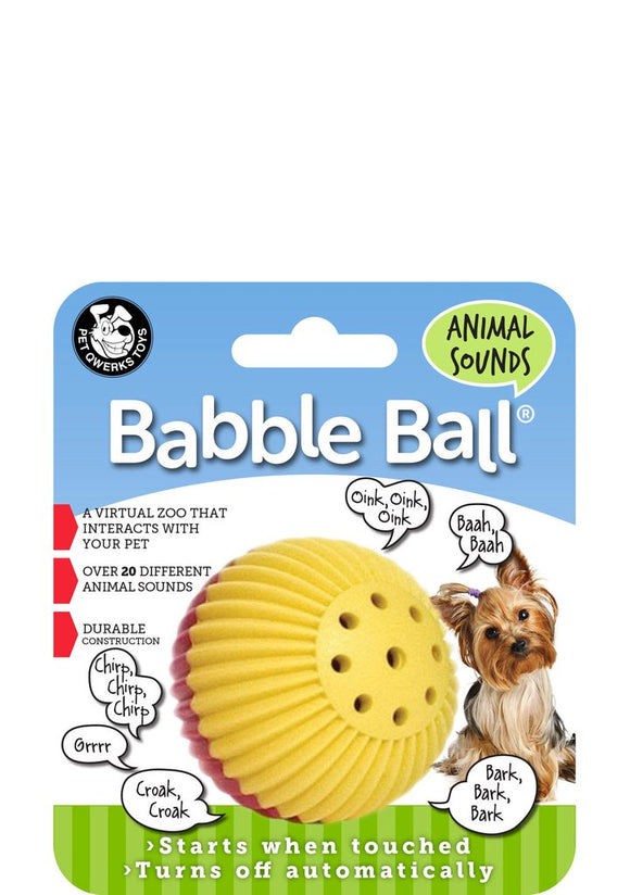 Pet Qwerks Animal Sounds Babble Ball for Dogs