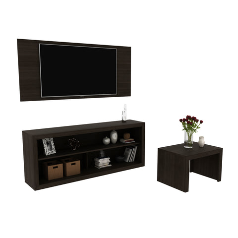 Mueble Combo Living Panel+Rack+Mesa Chocolate CJ1400.0003 - Apartamento22