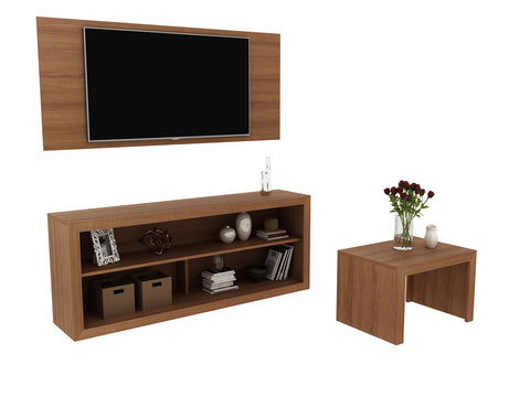 Mueble Combo Living Panel+Rack+Mesa Almendra CJ1400.0004 - Apartamento22