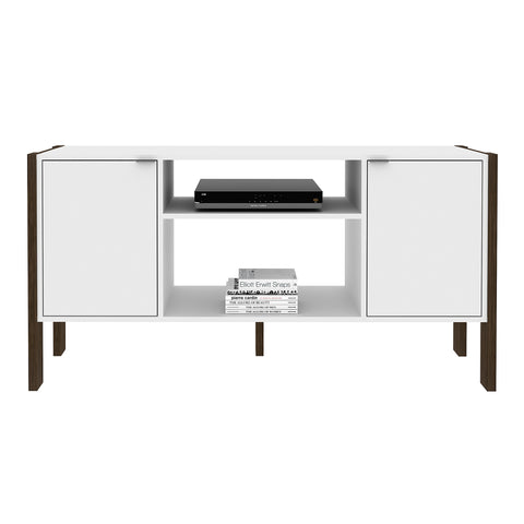 "Mueble Rack p/ TV 50"" Blanco/Nogal AZ1015.0001 - Apartamento22"