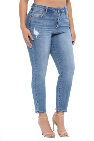 High Rise 4 Button Skinny