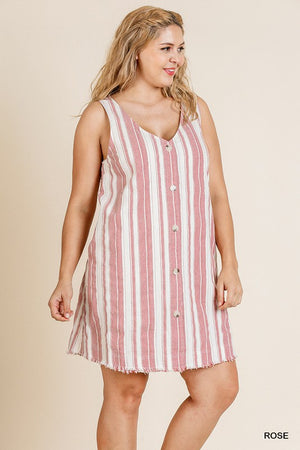 Striped Linen Button Down Dress