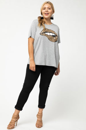 Cheetah Lips Graphic Tee