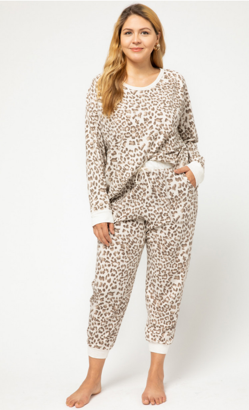 Cozy Animal Print Loungewear Set