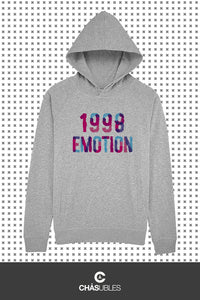 Hoodie femme/homme « 1998 émotion » - CHASUBLES