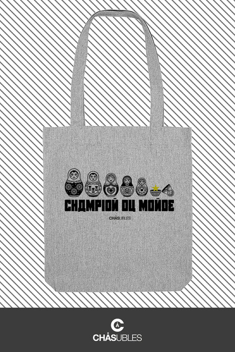 Tote Bag « champion du monde » (noir) - CHASUBLES