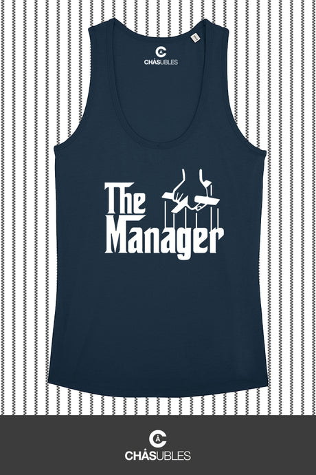 Débardeur  femme « The Manager » (blanc) - CHASUBLES