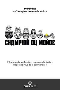 Sweat enfant « champion du monde » (noir) - CHASUBLES