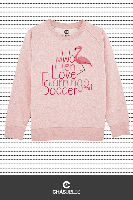 Sweat enfant « Women love flamingo » - CHASUBLES