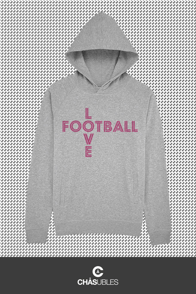 Hoodie  homme/femme « Love Football » - CHASUBLES