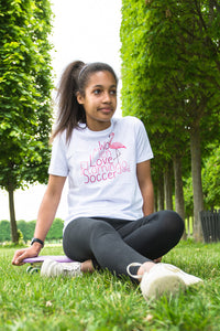 T-Shirt enfant « Women love flamingo » - CHASUBLES