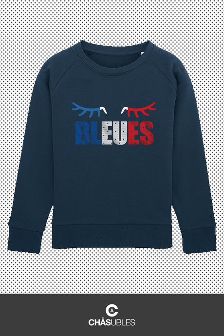 Sweat enfant « Bleues » - CHASUBLES