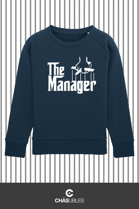 Sweat enfant « The Manager » (blanc) - CHASUBLES