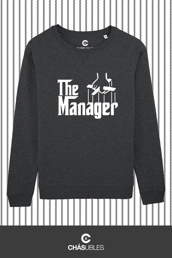 Sweat  femme « The Manager » (blanc) - CHASUBLES