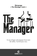 Charger l'image dans la galerie, Sweat  homme « The Manager » (noir) - CHASUBLES