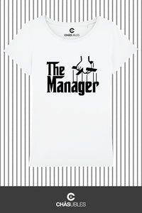 T-Shirt  femme « The Manager » (noir) - CHASUBLES