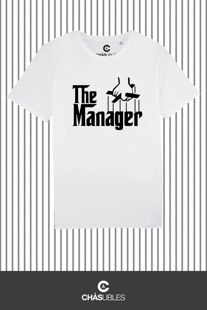T-Shirt  homme « The Manager » (noir) - CHASUBLES