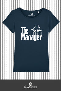T-Shirt  femme « The Manager » (blanc) - CHASUBLES
