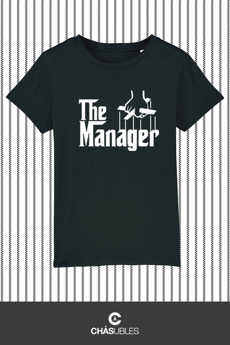T-Shirt enfant « The Manager » (blanc) - CHASUBLES