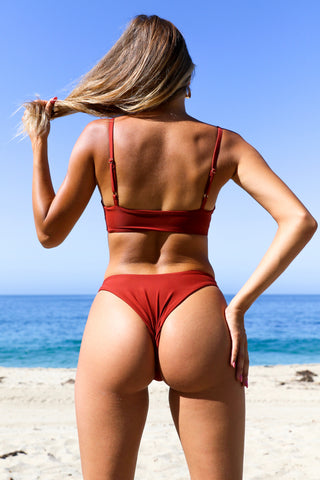 Luna Bottom - Rust Red