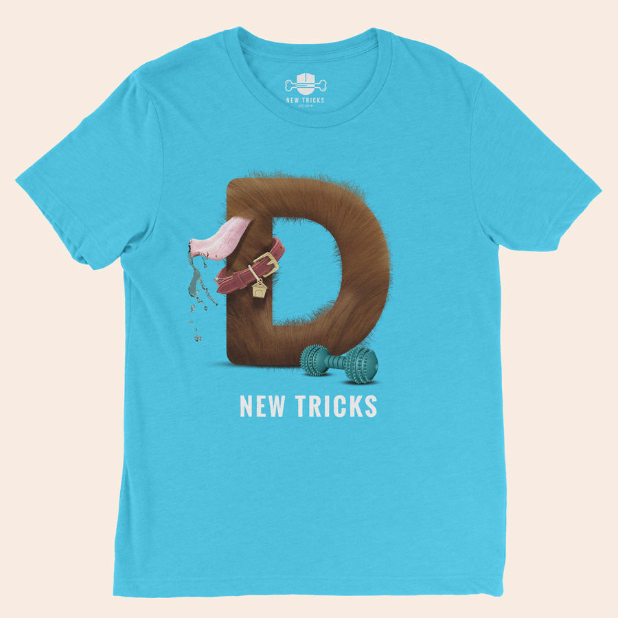 "Al-Fur-Bet - Brown ""D"" - Personalized T-shirt - New Tricks Clothing"