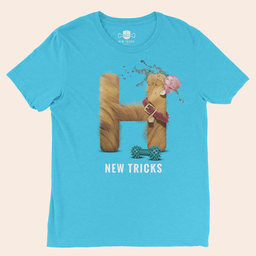"Al-Fur-Bet - Blonde ""H"" - Personalized T-shirt - New Tricks Clothing"