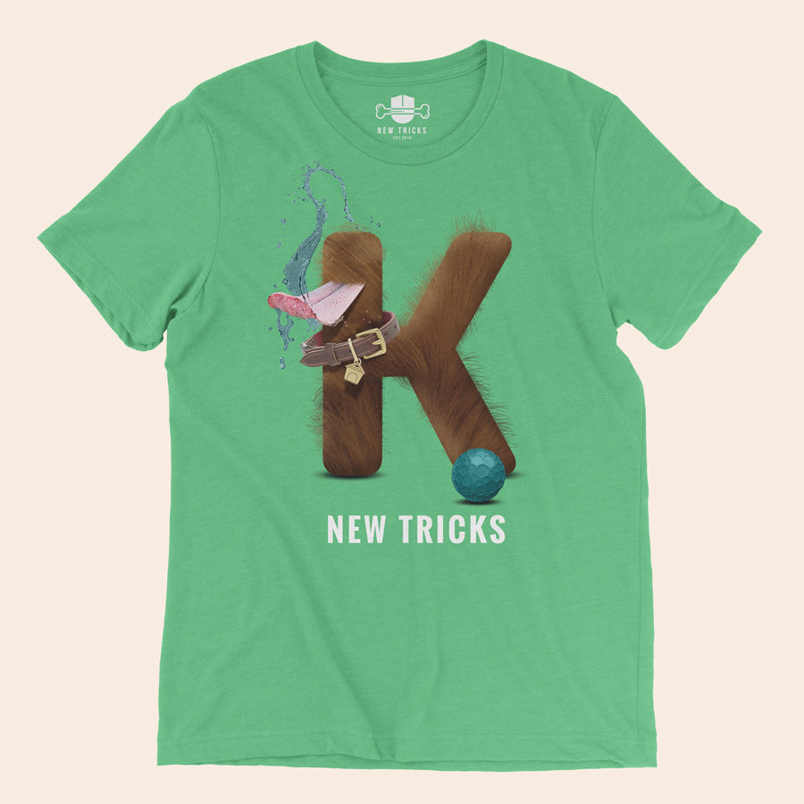 "Al-Fur-Bet - Brown ""K"" - Personalized T-shirt - New Tricks Clothing"