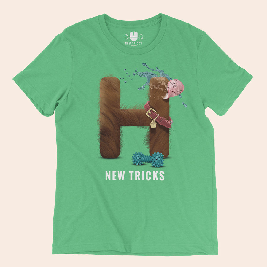 "Al-Fur-Bet - Brown ""H"" - Personalized T-shirt - New Tricks Clothing"