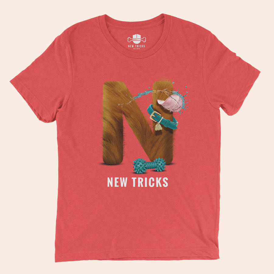 "Al-Fur-Bet - Red ""N"" - Personalized T-shirt - New Tricks Clothing"