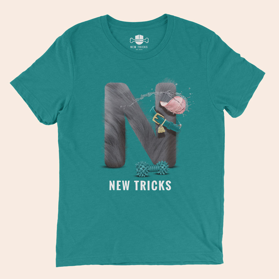 "Al-Fur-Bet - Silver ""N"" - Personalized T-shirt - New Tricks Clothing"