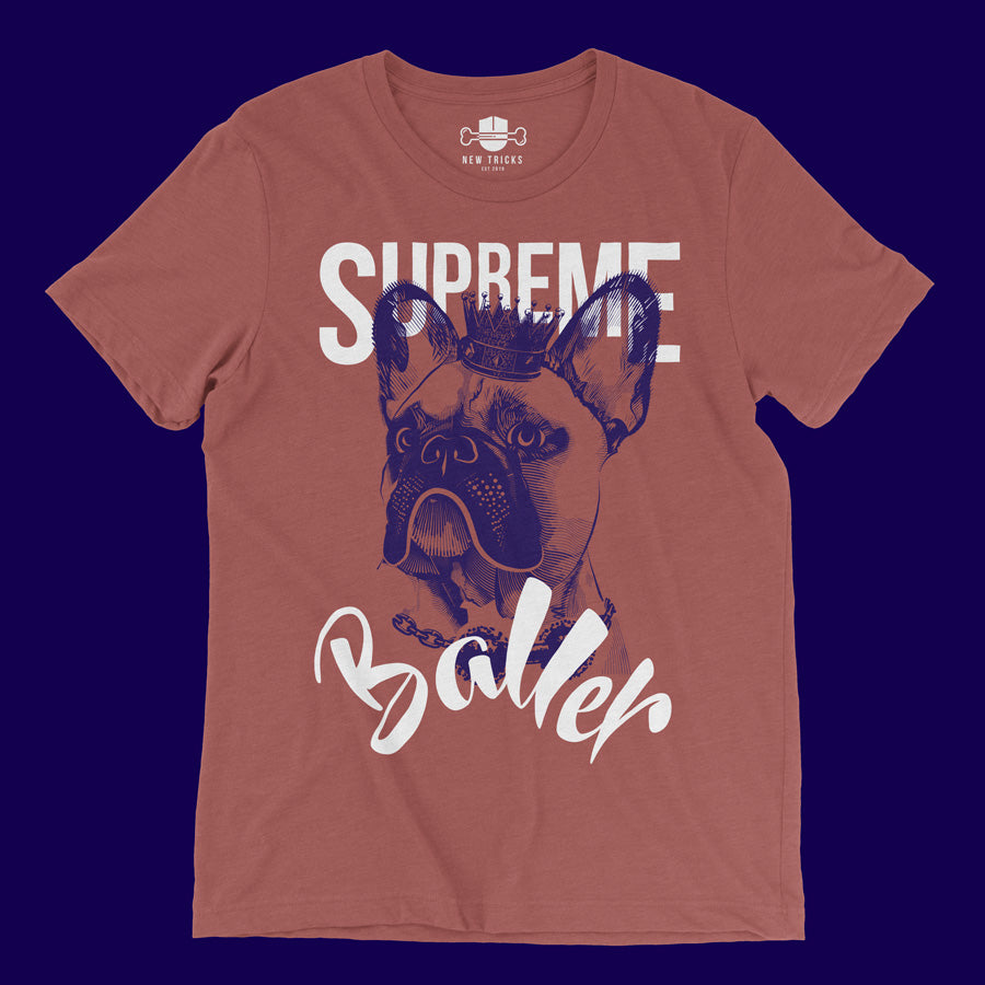 Baller Collection - French Bulldog - T-shirt - New Tricks Clothing
