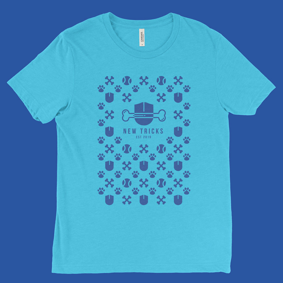 New Tricks Original - Blue Pattern - T-shirt - New Tricks Clothing
