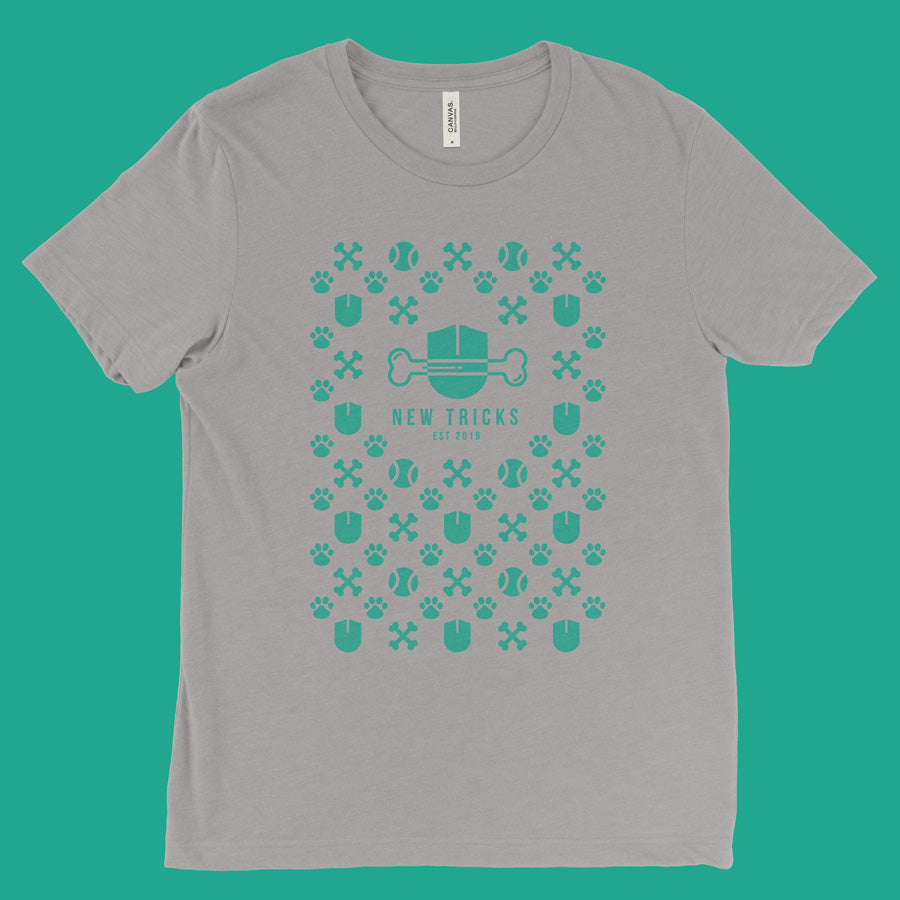 New Tricks Original - Green Pattern - T-shirt - New Tricks Clothing