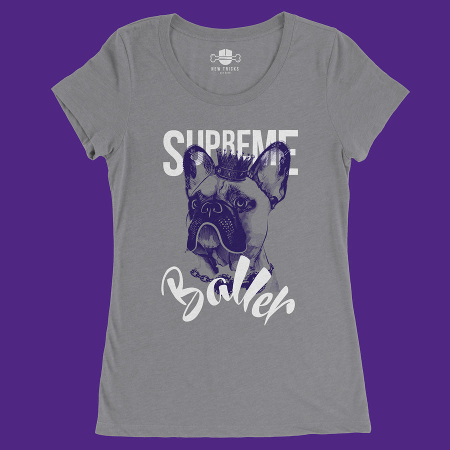 Ladies' Baller Collection - French Bulldog - T-shirt - New Tricks Clothing