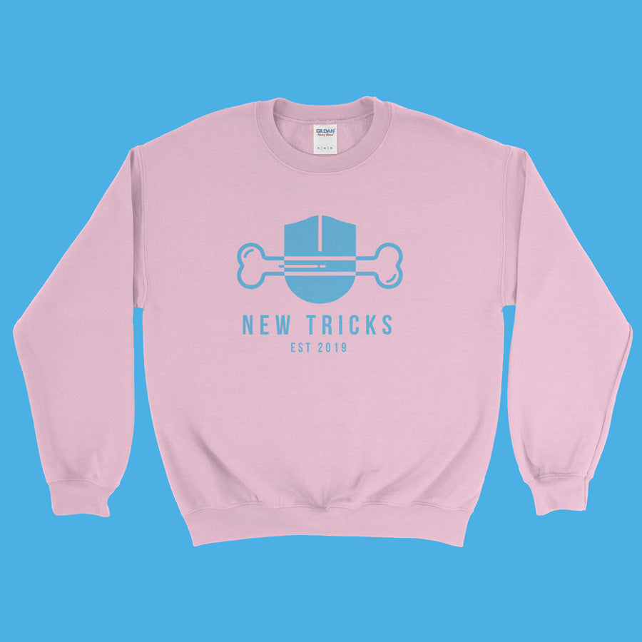 New Tricks Original - Light Blue Logo - Sweatshirt - New Tricks Clothing