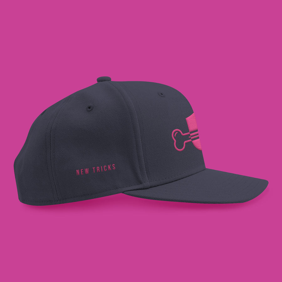 New Tricks Original - Pink Logo - Snapback Hat - New Tricks Clothing