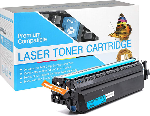 Compatible Canon 046H  (1253C001AA) High Yield  Cyan Toner Cartridge Replacement