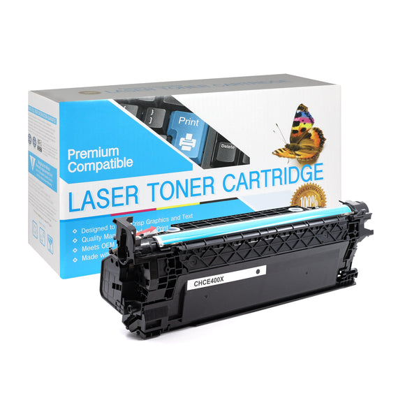 Compatible HP CE400X Black Toner Cartridge (507X) - Brooklyn Toner